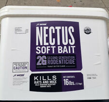 Nectus Soft Bait Rat & Mice Poison Bromadiolone 16lb Bucket NEW FRESH 2020 STOCK
