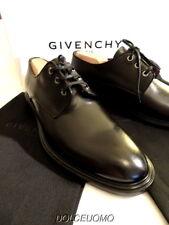 NEW $900 men GIVENCHY PARIS 43 9.5 USA BLACK DERBY OXFORDS Plain Toe Made ITALY