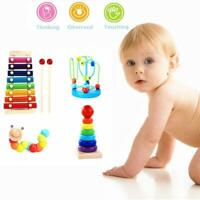 Montessori Wooden Toys Childhood Learning Toy Baby Colorful Wooden Blocks