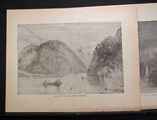 NICE PAIR OF 1883 LAKE GEORGE ENGRAVINGS