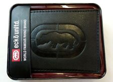 Ecko unltd Men's Boys Bifold Wallet Black ID Hold New w Tag & Gift Box MSRP  $35