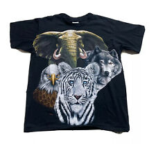 Trinity Products San Marcos Vintage Animal All Over Print T Shirt 90s USA Small