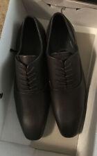 Aldo Cap Toe Oxford Dress Shoes Men's Size 9.5 Lace Up Black Leather Pre Owned