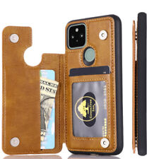 For Google Pixel 5 4A 5G Leather Case Card Slots Wallet Phone Back Cover