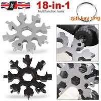 19-In1 Stainless Tool Multi Tool Portable Snowflake Shape Key Chain Screwdrive