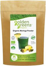 Golden Greens Organic Moringa Leaf Powder 200g, Hand-Picked and Naturally Dried