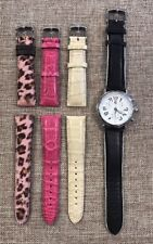 MICHELE Urban Stainless Steel Watch With 3 Additional Changeable Bands Size 20