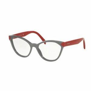 Prada PR02TV UR91O1 52MM Cat Eye Women's Grey Frame Genuine Eyeglasses