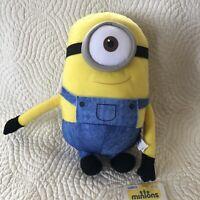 "Despicable Me 10"" Minion Stuart Plush Stuffed Animal One Eye Toy Factory Doll"