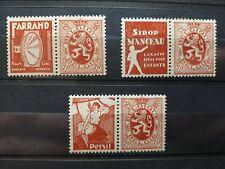 timbres belges : publicité 1927 1932 COB n° PU 43, 45, 46   NEUF *
