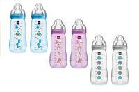 MAM Infant Baby Milk Drinking Easy Active Bottle 330ml 2Pk