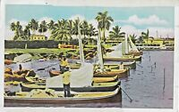 Postcard Passed by Naval Censor Sail Boats 1943