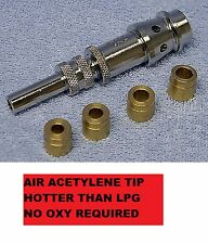 AIR ACETYLENE HEATING BRAZING TORCH TIP - ATMOS - NO OXY just ACETYLENE & AIR