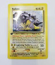 Raikou - 1st Edition | 13/64 Neo Revelation | Rare Holo foil Pokemon Card - Nice