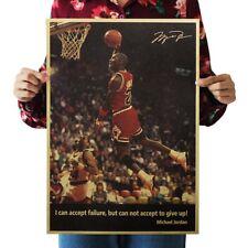 Poster Michael Jordan Chicago Bulls Vintage NBA Sportler Zitat Retro Wandbild