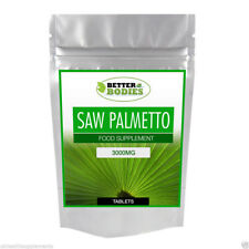 Saw Palmetto 3000mg HIGH Strength Tablets Available In Range of Sizes 30-1000