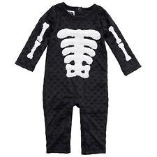 New Mud Pie SKELETON Black One-piece Halloween Costume 0-6 months Girl Boy Baby