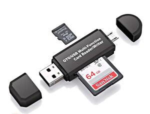Kartenleser Speicherkartenleser Micro SD Card Reader Micro USB 2.0 OTG Adapter
