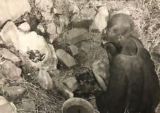 Cameroun  Rhumsiki Afrique homme Kapsiki CIRCA 1950 argentique CAMEROON