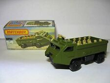 Matchbox Lesney Superfast Number 54 Personnel Carrier. Made in England 1976.