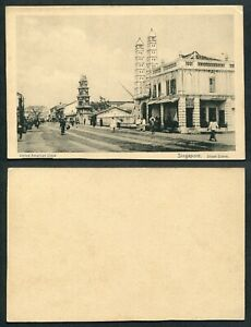 Old Malaya Singapore Postcard - @ Singapore - Street Scene @ Unused @