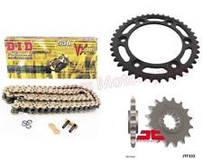 DID Gold X-Ring Chain and Black JT Sprocket Kit for Honda CBR1000 RR Fireblade
