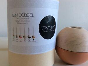 OYOY Candleholder MINI BOBbLE by OYOY Living Design Beech/Caramel BNIB RRP £25