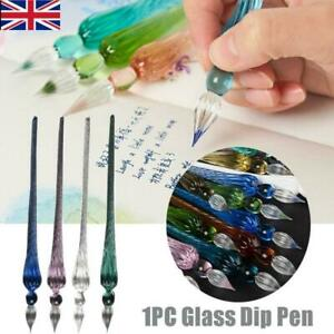 1PC Vintage Glass Dip Pen Painting Supplies Filling Ink Signature Calligraphy