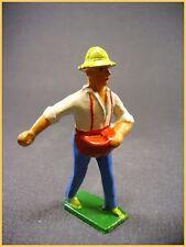 """BF figurine de la ferme, plomb creux, le fermier  """" le semeur """"  (antique toys)"""