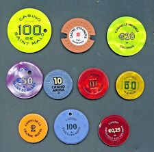 10 verschiedene Casino Jetons-Plaques-Sets  Nr 11