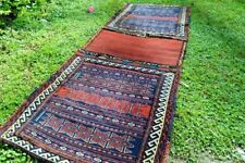 Antique Turkomen Yamood Khorjin Kilim Carpet Combination Barjasta Saddle Bag