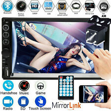 7 Inch Double DIN 2DIN Touchscreen Car Stereo MP5 CD Player Bluetooth USB FM AM