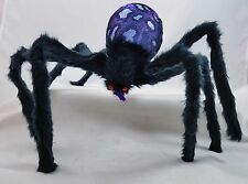Halloween Hairy Spider Purple LED Light Up Strobe & Flash Effect Figurine New