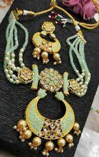 Indian Pakistani Bollywood Meenakari Kundan Necklace Brass Gold Plated Ethnic