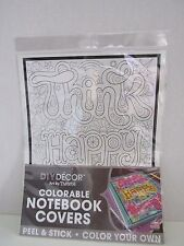 Diy New Decor Peel & Stick Colorable Notebook Cover Coloring Removable Wall-Safe