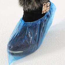 100x Couvre-Chaussures Étanche Jetable Plastique Surchaussure Shoe Cover Médical