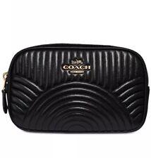❤️COACH Deco Quilting 39685 Black/Gold Belt Bag