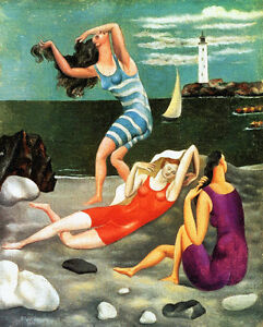 Pablo Picasso Bathers canvas print giclee 8X12 reproduction of painting poster