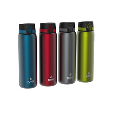Ion8 Leak Proof 1 litre Steel Water Bottle, Vacuum Insulated, 4 COLOURS!
