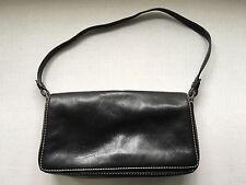 Black Leather Nordstrom Purse Medium Small Size Hand Carry Lined