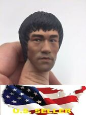 1/6 Bruce Lee Head The Game of Death for Hot Toys Ganghood ZC Dragon ❶US SELLER❶