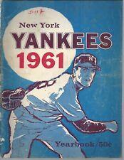 New York Yankees 1961 Team Yearbook Lot 2