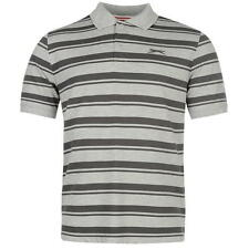 New Mens Branded Slazenger Casual Striped Pique YD Polo Shirt Top Size S-XXXXL