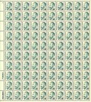 2193, Mint $1 Bernard Revel Complete Sheet of 100 Stamps - Stuart Katz