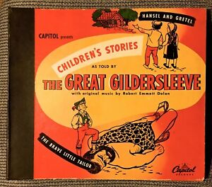 The GREAT GILDERSLEEVE Children's Stories - 1946 Capitol 4-record Set  CD-33