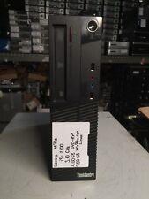 Lenovo ThinkCentre M71e Intel Core i3-2100 3.10GHz 4GB 750GB Linux ~win7 Pro COA