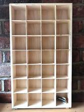 VINTAGE IN LEGNO MURO DISPLAY Ciondolo Ornamento Scaffale Scaffalature di archiviazione unità rack