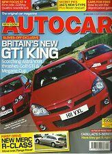 Autocar 19th July 2005, Astra VXR, R-class, MIni Marcos, Pagani, Cadillac CTS