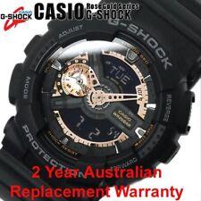 CASIO G-SHOCK MEN WATCH GA-110RG-1A BLACK x ROSE GOLD GA-110RG-1ADR 2Y WARRANTY
