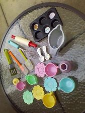 Play Plates Kitchen Pretend Set Toy Food Cups Lot Kids Dishes Utensils Toys